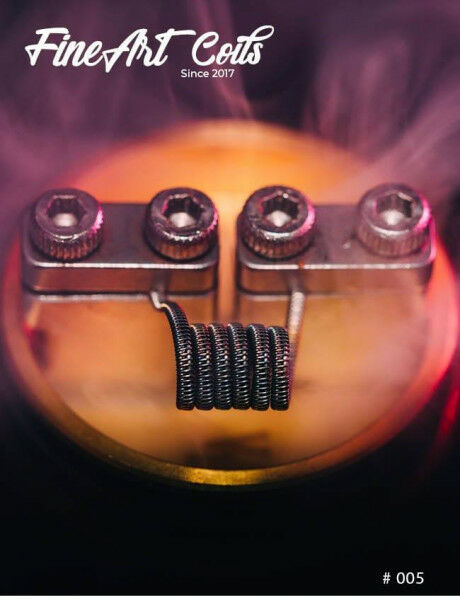 FineArtCoils - 005 - Half Staggered Fused Clapton