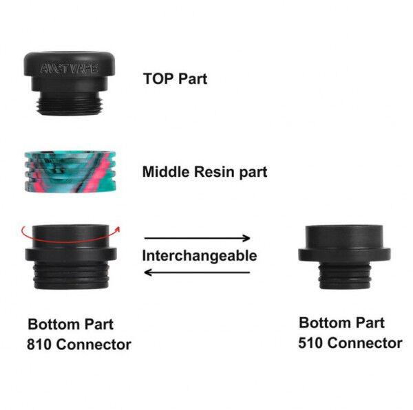 810 DripTip - D0058 - 15,4x17,2mm