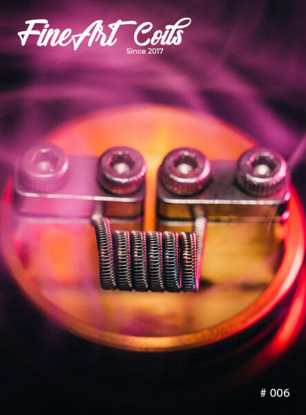 FineArtCoils - 006 - Half Staggered Fused Clapton