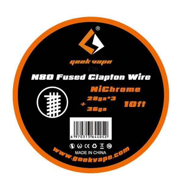 N80 Fused Clapton 28*3/36GA (0.32*3/0.13 mm) Wickeldraht - ZN08