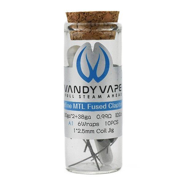 10x Vandy Vape Prebuilt A1 Superfine MTL Fused Clapton Coil 30ga*2/38ga 0.99 Ohm