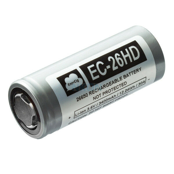 Enercig EC-26HD 26650 3400mAh 3.7V, Li-Ion Akku (High Drain - 30A)