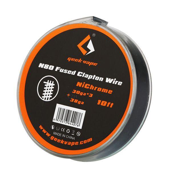 N80 Fused Clapton 30*3/38GA (0.25*3/0.10 mm) Wickeldraht - ZN09
