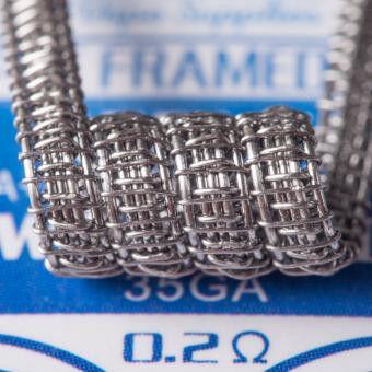 Cloudworks PCB12 - 10 x Staple Framed Fused Coil Kanthal (0.32 + 0.32 mm * 3) * 0.20+0.32